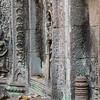 Carving detail Angkor Phrom, Angkor temples, Cambodia