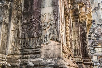 Carving detail Angkor Wat, Cambodia