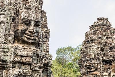 Angkor Bayon temple faces, Cambodia