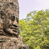 Angkor Bayon temple face, Cambodia