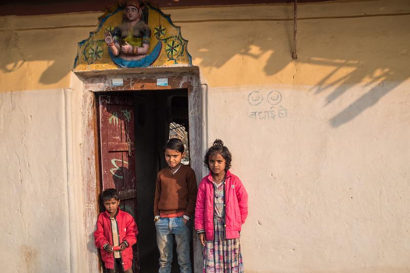 Sister and brothers, Ranchha village, Madhya Pradesh, India