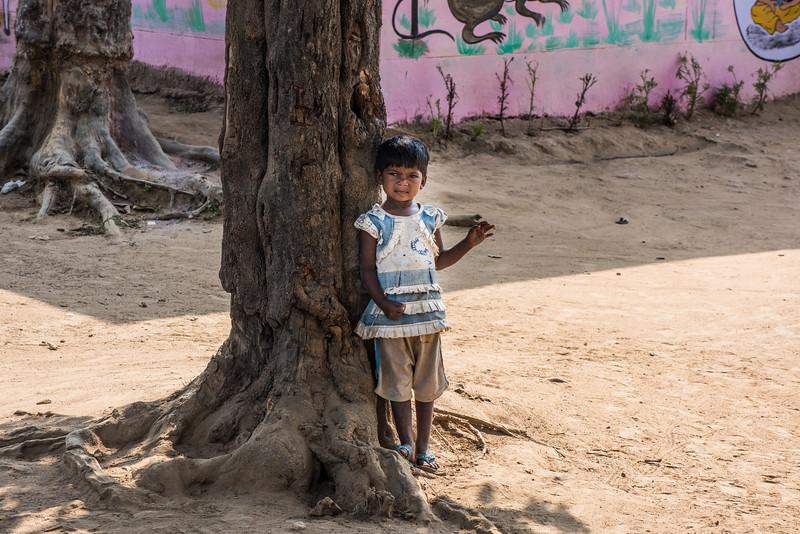 Little girl, Kahna National Park, India