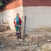 Woman outside her home, Ranchha village, Madhya Pradesh, India