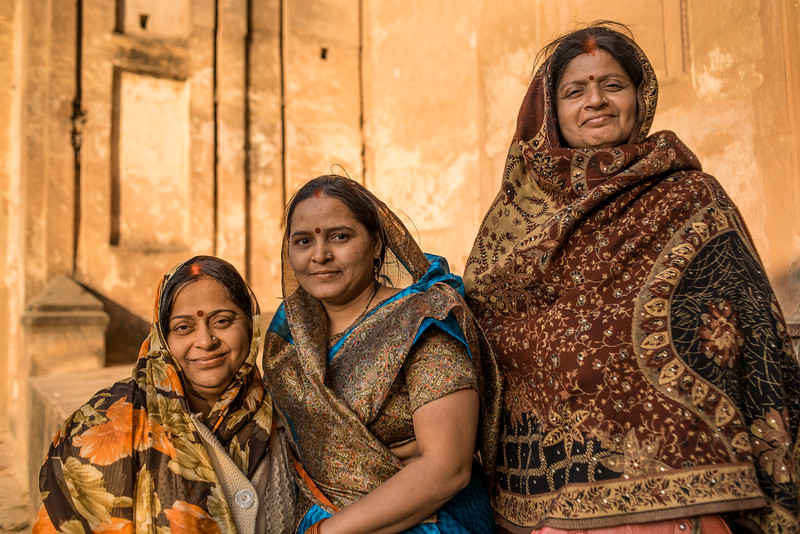Three Women, Agra, India