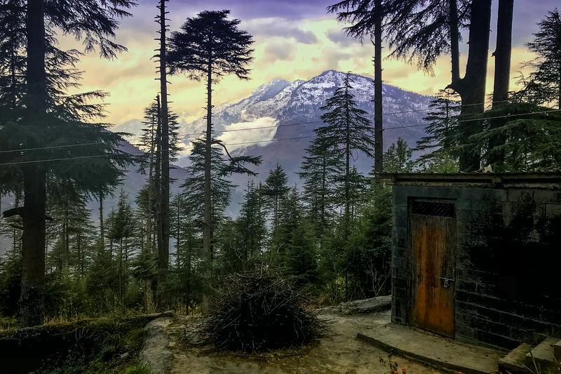 Mountain view, Sonaugi Camp, Himachal Pradesh, India
