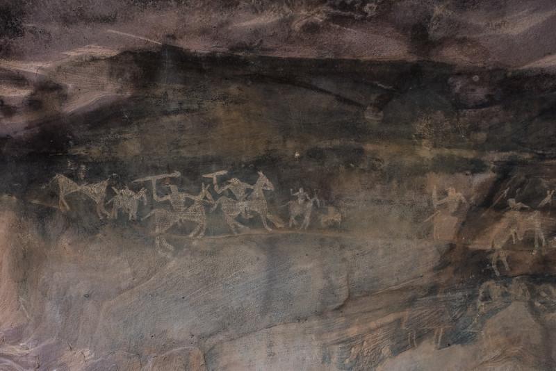 Wall Paintings, Bhimbetka caves, Madhya Pradesh, India