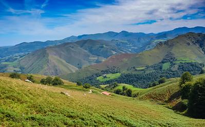 Pyrenees Mountains, near St. Jean Pied du Port, France, the start of the Camino de Santiago