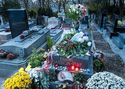 Edith Piaf's Grave, Père Lachaise Cemetery, Paris, France