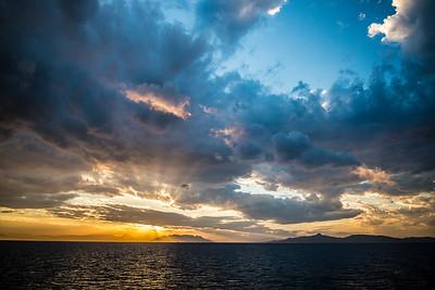 Aegean Sea near Athens, Greece