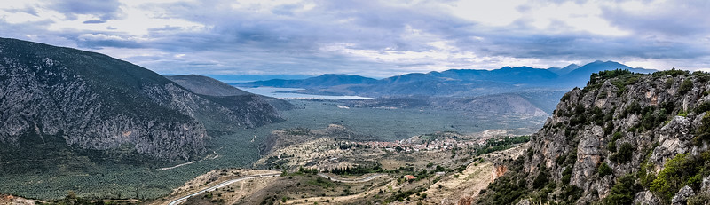 View of the Gulf of Corinth, Delphi, Greece
