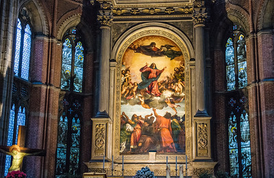 Titian's altarpiece, Friari Church, Venice, Italy