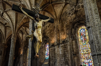 Crucifix, San Jeronimo monastery, Lisbon, Portugal