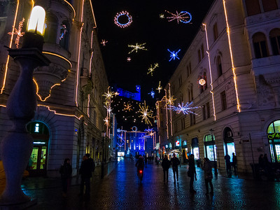 Christmas Decorations, Ljubljana, Slovenia