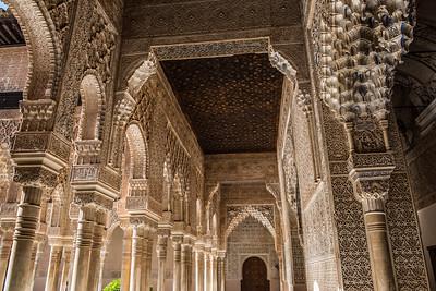 Alhambra Ceiling, Granada, Spain