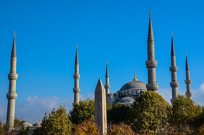 Spires of the Hagia Sophia, Istanbul, Turkey