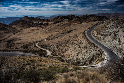 The road from Salta to Cachi, Argentina