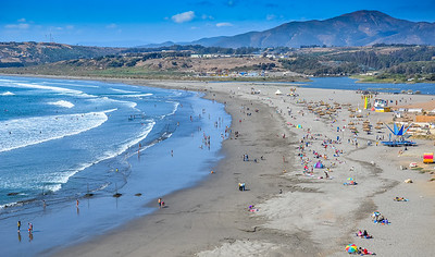The Beach at Con Con, Chile
