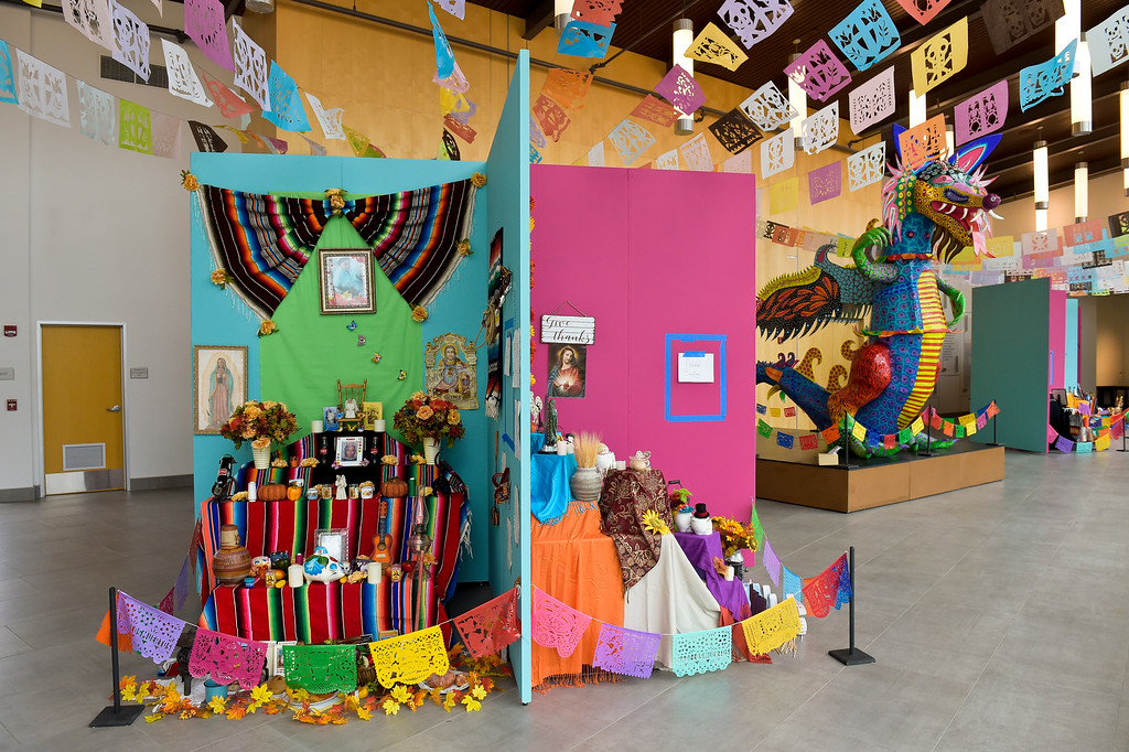 . LONGMONT, CO - OCTOBER 10: The Día de los Muertos exhibition Oct. 10, 2018 at the Longmont Museum and Cultural Center. The annual exhibit runs through Nov. 6. (Photo by Lewis Geyer/Staff Photographer)