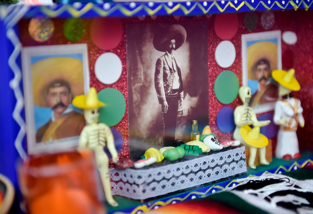 . LONGMONT, CO - OCTOBER 10: A diorama is displayed on an altar at the Día de los Muertos exhibition Oct. 10, 2018 at the Longmont Museum and Cultural Center. The annual exhibit runs through Nov. 6. (Photo by Lewis Geyer/Staff Photographer)