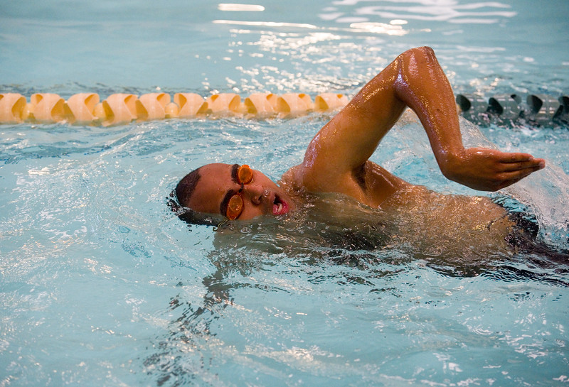 "Nathaniel Hoston competes in the swimming portion of the Longmont Triathlon at Centennial Pool in Longmont on Sunday.<br /> More photos:  <a href=""http://www.dailycamera.com"">http://www.dailycamera.com</a><br /> (Autumn Parry/Staff Photographer)<br /> June 5, 2016"