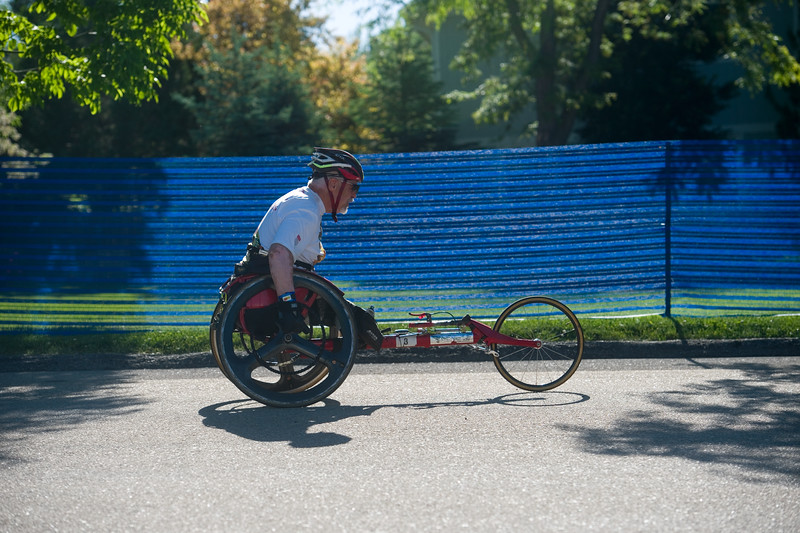 "Dennis Gordon heads out to compete in the biking portion of the Longmont Triathlon at Centennial Pool in Longmont on Sunday.<br /> More photos:  <a href=""http://www.dailycamera.com"">http://www.dailycamera.com</a><br /> (Autumn Parry/Staff Photographer)<br /> June 5, 2016"