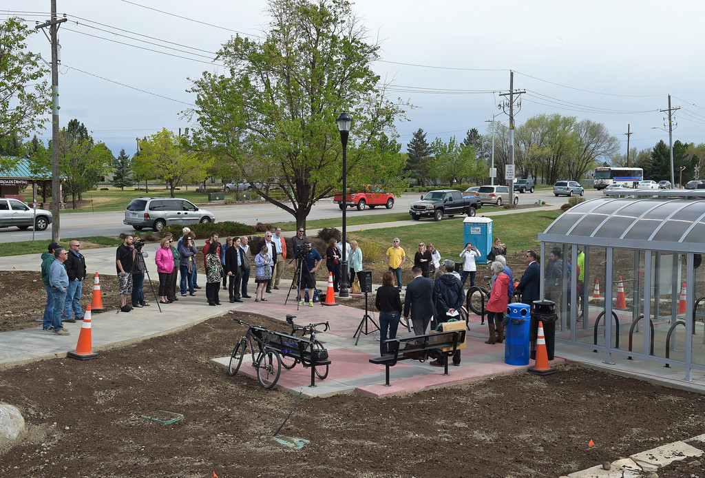 . The dedication ceremony for the new Diagonal underpass and Longmont\'s bike share program Thursday. To view a slideshow visit www.timescall.com. Lewis Geyer/Staff Photographer April 20, 2017