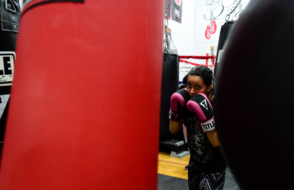 . Boxers train at La Familia at the YMCA in Longmont, Colorado on May 2, 2018. (Photo by Matthew Jonas/Staff Photographer)