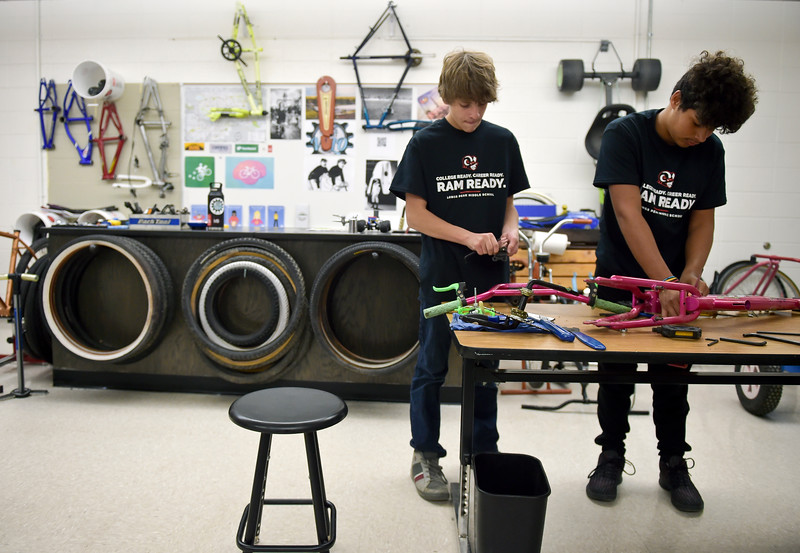 BIKE SHOP AT LONGS PEAK MIDDLE SCHOOL