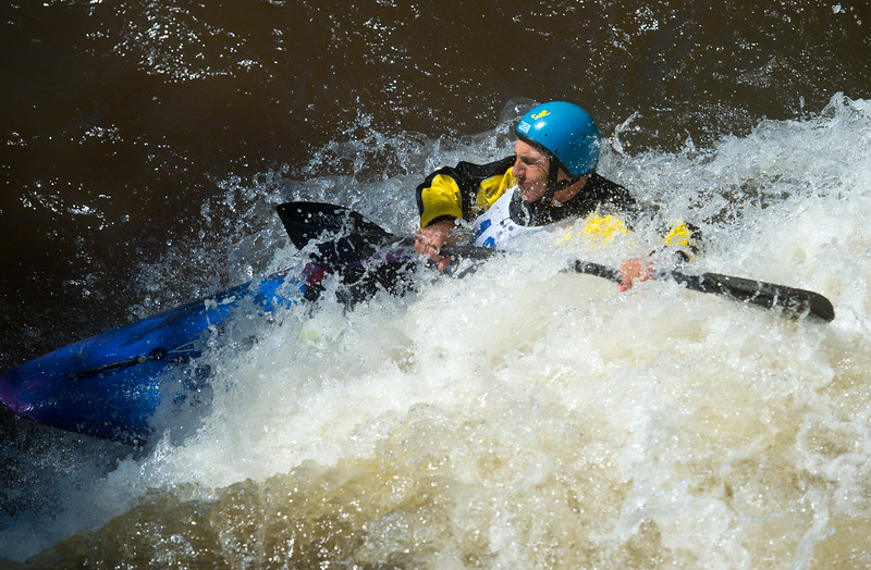 "Nick Sutcliffe navigates rapids during the kayak slalom as part of the Lyons Outdoor Games at Black Bear Hole in Bohn Park on Saturday. <br /> More photos:  <a href=""http://www.dailycamera.com"">http://www.dailycamera.com</a><br /> (Autumn Parry/Staff Photographer)<br /> June 4, 2016"