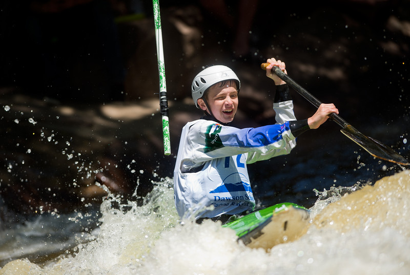"Max Melamed navigates rapids while competing in kayak slalom as part of the Lyons Outdoor Games at Black Bear Hole in Bohn Park on Saturday. <br /> More photos:  <a href=""http://www.dailycamera.com"">http://www.dailycamera.com</a><br /> (Autumn Parry/Staff Photographer)<br /> June 4, 2016"