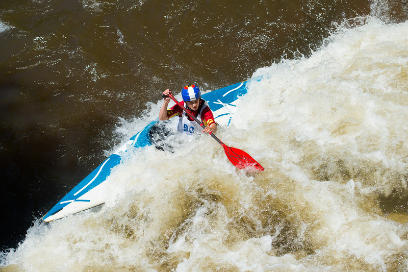 "Oran Huff navigates rapids while competing in kayak slalom as part of the Lyons Outdoor Games at Black Bear Hole in Bohn Park on Saturday. <br /> More photos:  <a href=""http://www.dailycamera.com"">http://www.dailycamera.com</a><br /> (Autumn Parry/Staff Photographer)<br /> June 4, 2016"