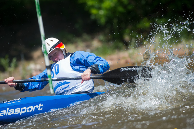 "Hella Shipley competes in the kayak slalom as part of the Lyons Outdoor Games at Black Bear Hole in Bohn Park on Saturday. <br /> More photos:  <a href=""http://www.dailycamera.com"">http://www.dailycamera.com</a><br /> (Autumn Parry/Staff Photographer)<br /> June 4, 2016"