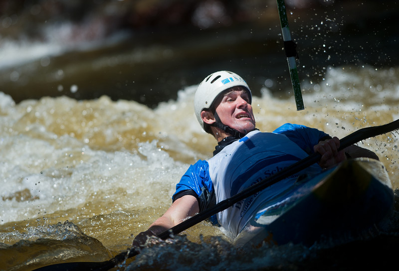 "Scott Shipley navigates rapids while competing in kayak slalom as part of the Lyons Outdoor Games at Black Bear Hole in Bohn Park on Saturday. <br /> More photos:  <a href=""http://www.dailycamera.com"">http://www.dailycamera.com</a><br /> (Autumn Parry/Staff Photographer)<br /> June 4, 2016"