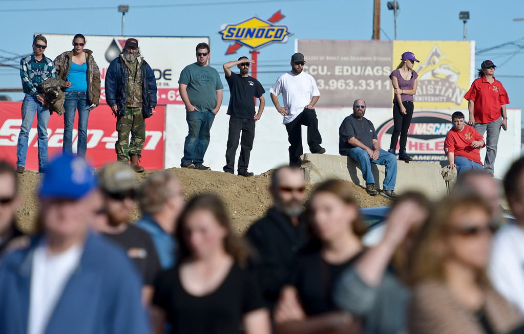 . Makayla Grote\'s memorial service at Colorado National Speedway Sunday afternoon. To view more photos and a video visit timescall.com. Lewis Geyer/Staff Photographer Nov. 26, 2017