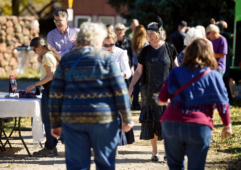 . BOULDER, CO - OCTOBER 21: Visitors were greeted with ideal weather for Meet the Spirits event at Columbia Cemetery Oct. 21, 2018. The cemetery is listed on the State and National Register of Historic Places. (Photo by Lewis Geyer/Staff Photographer)