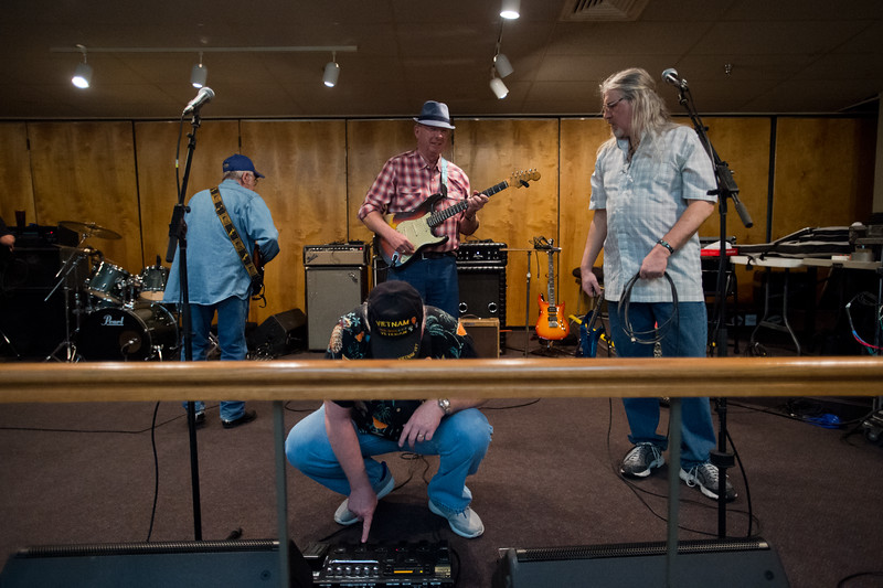 "Musicians gather for a jam session during a celebration of life gathering for Ward Harston, at the Moose Lodge in Longmont on Sunday. Ward, a renowned musician and music teacher in the area, passed away in March.<br /> More photos:  <a href=""http://www.dailycamera.com"">http://www.dailycamera.com</a><br /> Autumn Parry/Staff Photographer<br /> May 15, 2016"