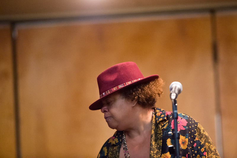 "Wende Harston pauses from singing for a moment during a jam session at a celebration of life gathering for her brother, Ward Harston, at the Moose Lodge in Longmont on Sunday. Ward, a renowned musician and music teacher in the area, passed away in March.<br /> More photos:  <a href=""http://www.dailycamera.com"">http://www.dailycamera.com</a><br /> Autumn Parry/Staff Photographer<br /> May 15, 2016"