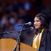 "Student speaker Abby Pelsmaeker addresses the class of 2016 during Monarch High School's commencement ceremony at 1stBank Center in Broomfield on Friday.<br /> More photos:  <a href=""http://www.dailycamera.com"">http://www.dailycamera.com</a><br /> Autumn Parry/Staff Photographer<br /> May 20, 2016"