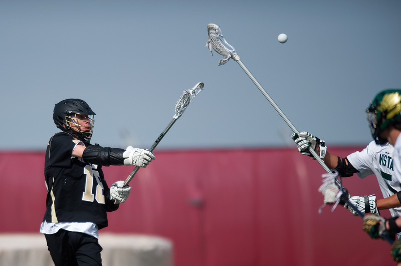 "Monarch's Andrew Zwiers passes the ball to a teammate  during the 5A lacrosse quarterfinals against Mountain Vista at Legacy Stadium in Aurora on Saturday. Mountain Vista defeated Monarch 15-9.<br /> More photos:  <a href=""http://www.BoCoPreps.com"">http://www.BoCoPreps.com</a><br /> Autumn Parry/Staff Photographer<br /> May 14, 2016"