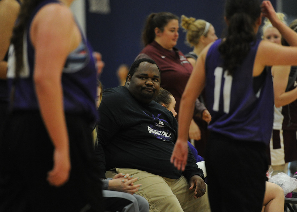 . Mountain View coach Jason Walker watches his team\'s scrimmage at Power to Play Sports.