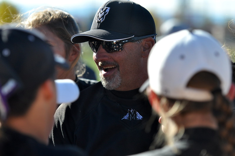 Mountain View coach Randy Felton smiles after winning the state championship Saturday in Aurora. (Cris Tiller / Loveland Reporter-Herald)