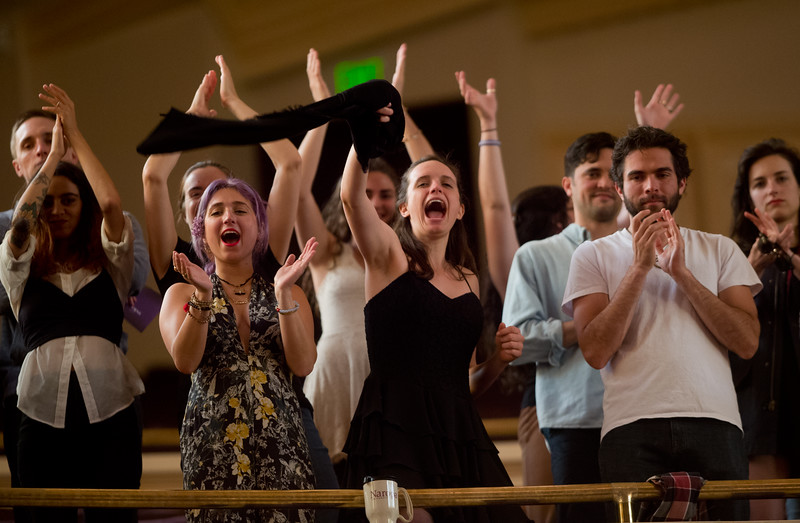 "Family and friends cheer for the Naropa graduates as they file into Macky Auditorium on Sunday.<br /> More photos:  <a href=""http://www.dailycamera.com"">http://www.dailycamera.com</a><br /> Autumn Parry/Staff Photographer<br /> May 8, 2016"