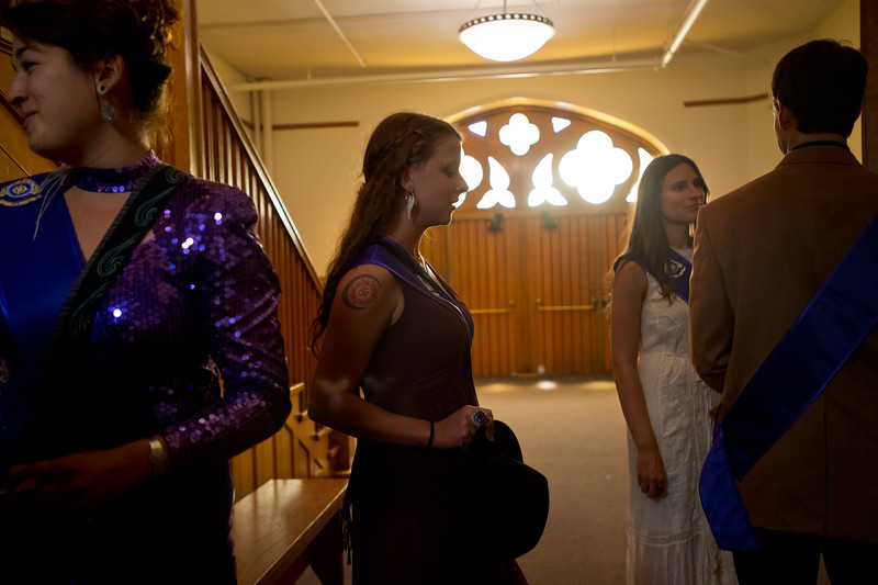 "Ruby Red waits in line as graduates begin to fill Macky Auditorium for Naropa University's commencement ceremony on Sunday.<br /> More photos:  <a href=""http://www.dailycamera.com"">http://www.dailycamera.com</a><br /> Autumn Parry/Staff Photographer<br /> May 8, 2016"