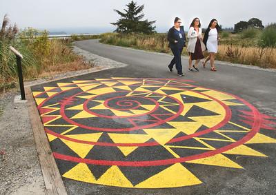 Photos:  Native artwork on Eureka Waterfront Trail