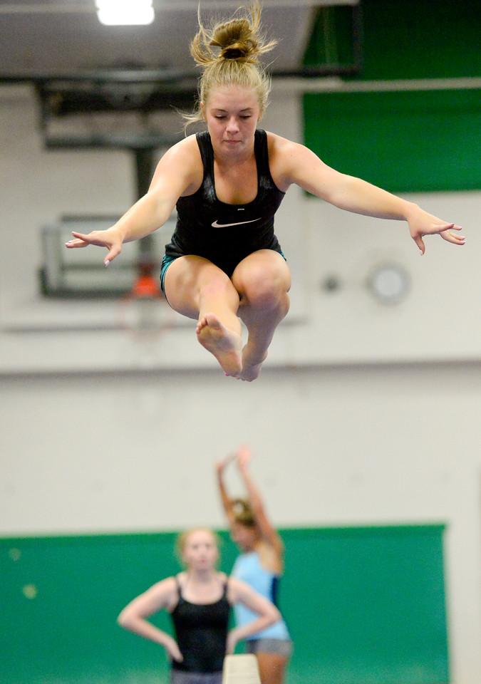 Niwot Gymnastics Practice