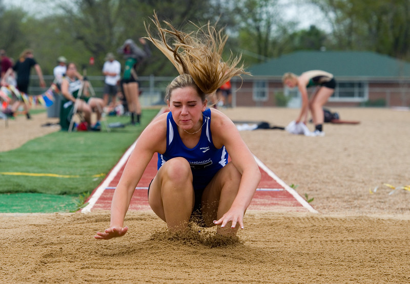 "Longmont's Madisen Gaibler competes in the long jump during the Northern/Tri-Valley/Mile High League Championships at Longmont High School on Friday.<br /> More photos:  <a href=""http://www.BoCoPreps.com"">http://www.BoCoPreps.com</a><br /> Autumn Parry/Staff Photographer<br /> May 6, 2016"
