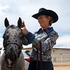 """Pam Klein prepares her pony, Dream, for the POA Futurity and Open Horse Show at the Boulder County Fairgrounds in Longmont on Sunday.<br /> More photos:  <a href=""""http://www.dailycamera.com"""">http://www.dailycamera.com</a><br /> (Autumn Parry/Staff Photographer)<br /> August 28, 2016"""
