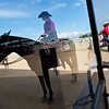 """Emma Widener (left) waits with her Quarter Horse, Coal, after completing a trail class during the POA Futurity and Open Horse Show at the Boulder County Fairgrounds in Longmont on Sunday.<br /> More photos:  <a href=""""http://www.dailycamera.com"""">http://www.dailycamera.com</a><br /> (Autumn Parry/Staff Photographer)<br /> August 28, 2016"""