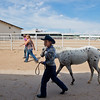 """Pam Klein walks her pony, Dream, to the arena for the POA Futurity and Open Horse Show at the Boulder County Fairgrounds in Longmont on Sunday.<br /> More photos:  <a href=""""http://www.dailycamera.com"""">http://www.dailycamera.com</a><br /> (Autumn Parry/Staff Photographer)<br /> August 28, 2016"""