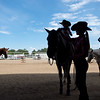 """Emma Widener waits to compete with her Quarter Horse, Coal, in a trail class during the POA Futurity and Open Horse Show at the Boulder County Fairgrounds in Longmont on Sunday.<br /> More photos:  <a href=""""http://www.dailycamera.com"""">http://www.dailycamera.com</a><br /> (Autumn Parry/Staff Photographer)<br /> August 28, 2016"""